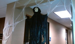 Even the grim reaper has to turn in receipts!